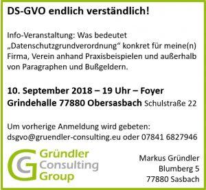 DSGVO Infoveranstaltung